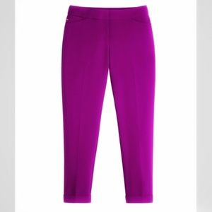 WHBM Soft Drape Crop/Cuffed Pants in Magenta